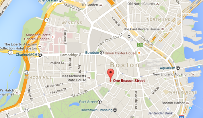Beacon Street Map Image with Link to Google Directions