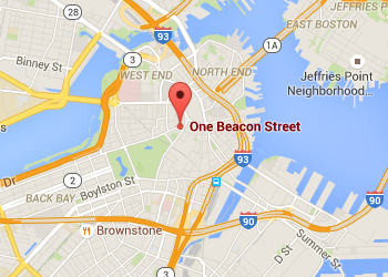 map location of One Beacon Street, Boston MA
